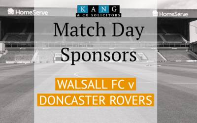 Match Day Sponsors for Walsall FC vs Doncaster
