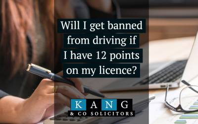 Will I get banned from driving with 12 points on my licence?