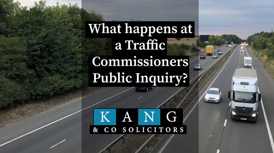 What happens at a Traffic Commissioners Public Inquiry?