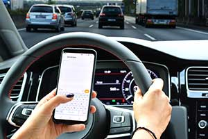 case study using mobile phone whilst driving