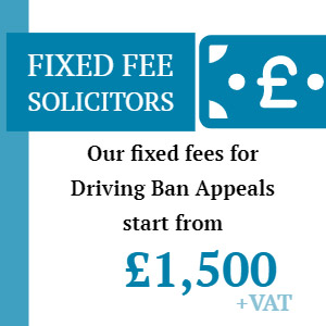driving ban appeal fixed fee