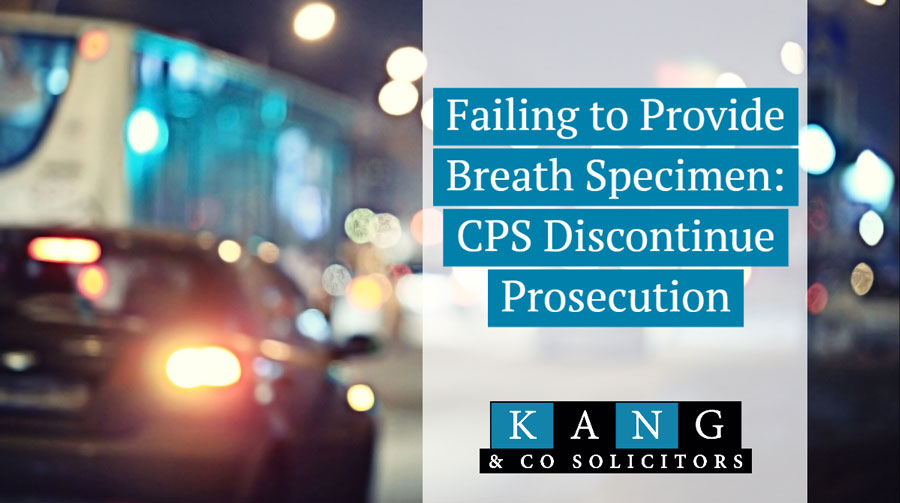 failing to provide a specimen cps discontinue prosecution