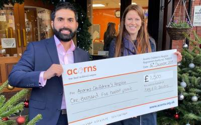 Kang & Co Solicitors: Supporting Acorns Children's Hospice throughout 2019