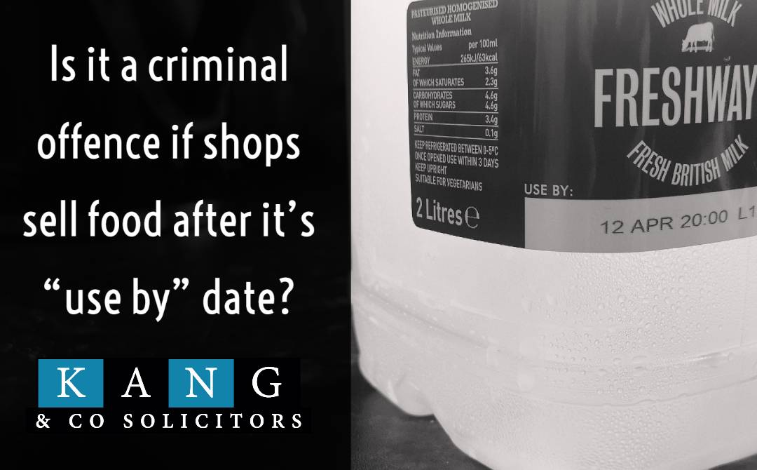 """Is it a criminal offence if shops sell food after it's """"use by"""" date?"""