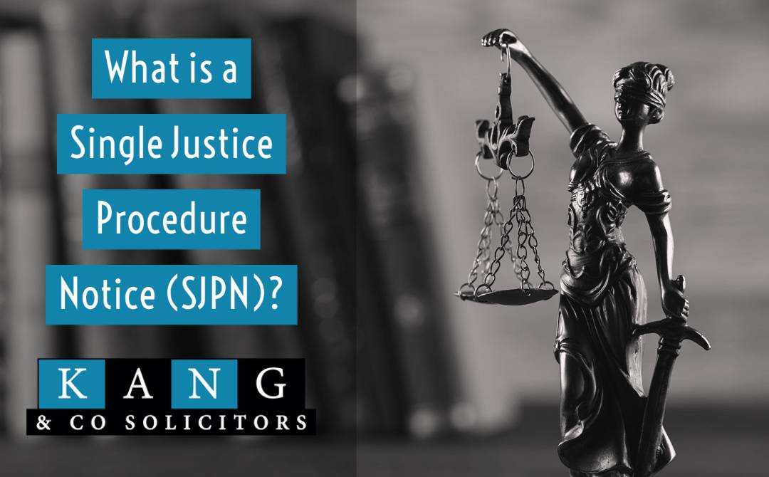 What is a Single Justice Procedure Notice SJPN