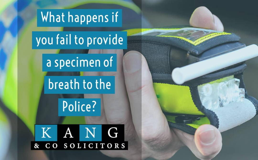 What happens if you fail to provide a specimen of breath to the Police?