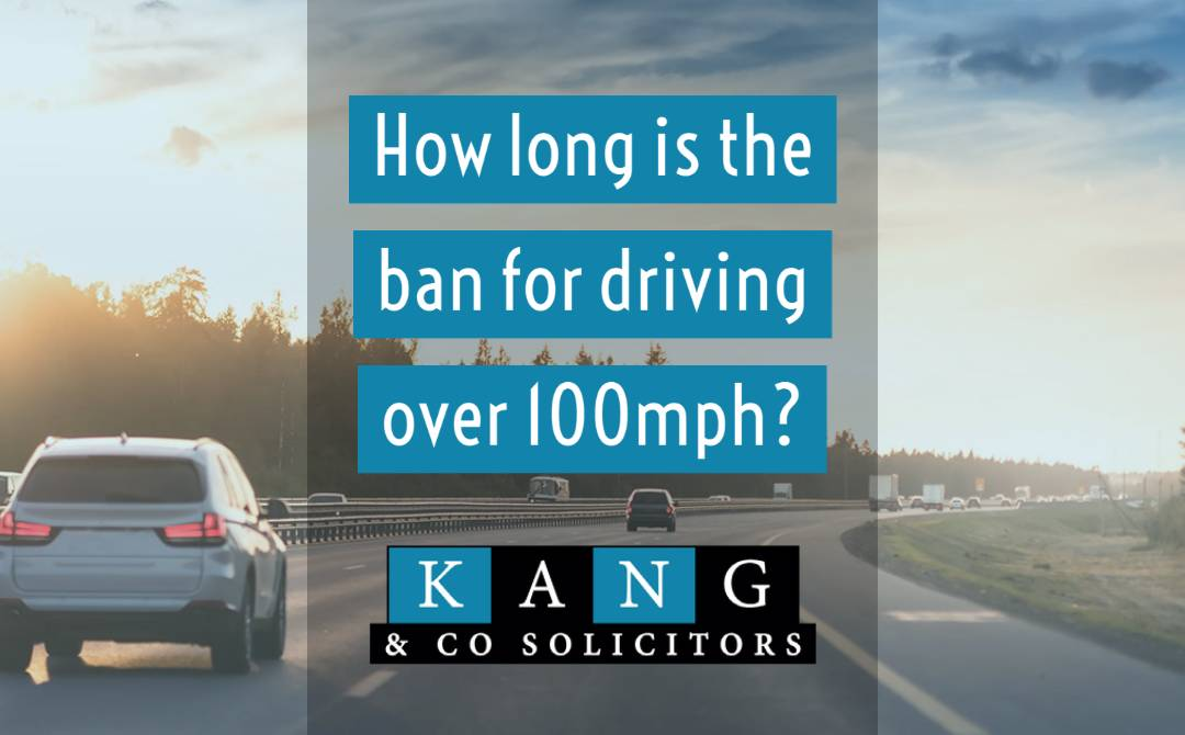 How long is the ban for driving over 100mph?