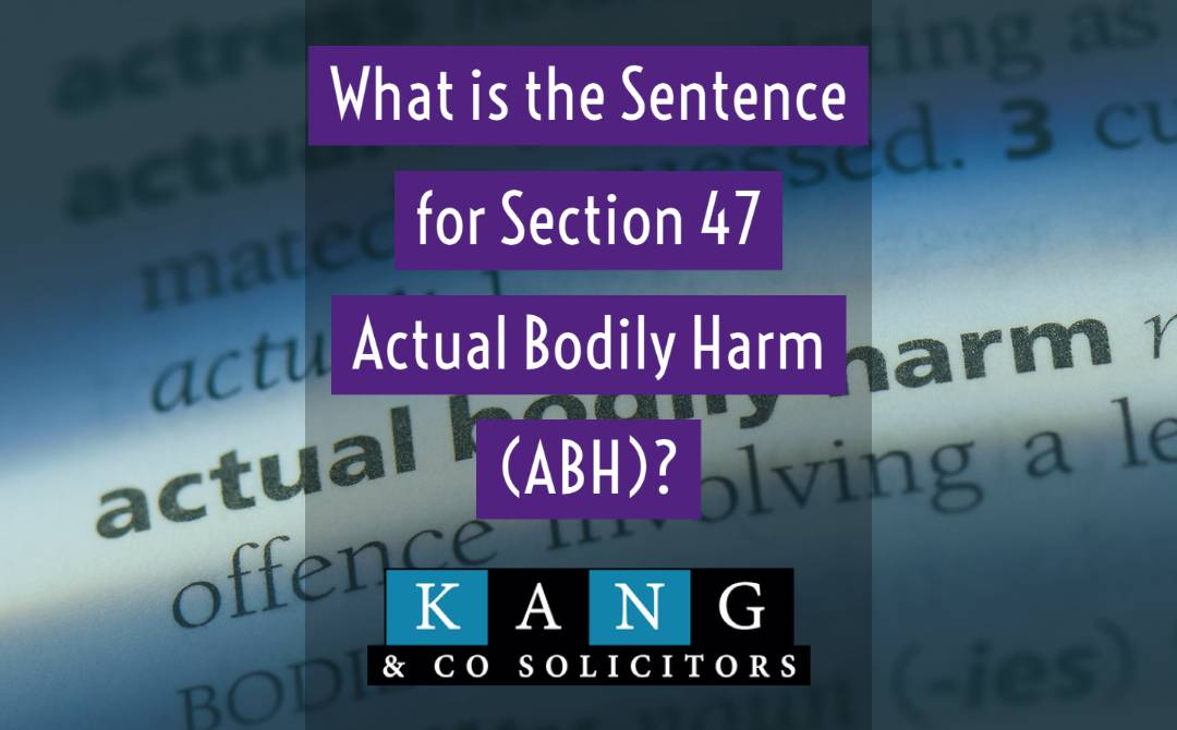What is the Sentence for Actual Bodily Harm?